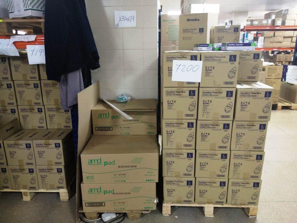 Material sanitario en los almacenes del Aea Integrada de Salud de Talavera